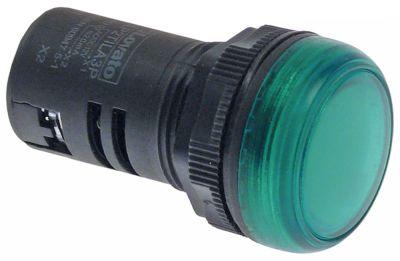 ενδεικτική λυχνία διαστ. τοποθέτ. ø22mm  πράσινο χωρίς λαμπτήρα
