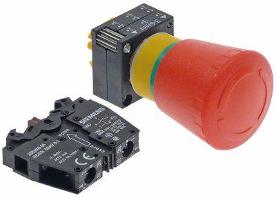 κουμπί πίεσης διαστ. τοποθέτ. ø22mm  ΤΕΡΜΑΤΙΣΜΟΣ ΛΕΙΤΟΥΡΓΙΑΣ ΕΚΤΑΚΤΗΣ ΑΝΑΓΚΗΣ κόκκινο