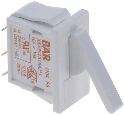 μικροδιακόπτης με μοχλό με κουμπί 250V 1A 1CO  σύνδεσμος αρσενικό εξάρτημα 2,8mm Μ 25x12,5 mm