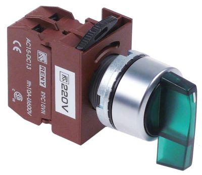 περιστροφικός επιλογέας διαστ. τοποθέτ. ø22mm  πράσινο ακολουθία 0-1  μανδάλωση
