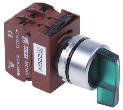 περιστροφικός επιλογέας διαστ. τοποθέτ. ø22mm  πράσινο ακολουθία 1-0-2  μανδάλωση