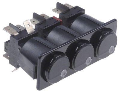 συνδυασμένοι διακόπτες μανδάλωση στρογγυλό μαύρο 2CO/2NO/2NO  250V 16A
