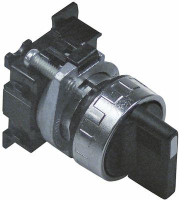 περιστροφικός επιλογέας ø22mm  μαύρο μανδάλωση ακολουθία 0-1