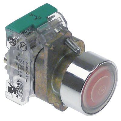 κουμπί πίεσης διαστ. τοποθέτ. ø22mm  1NO  20A κόκκινο πλήρες