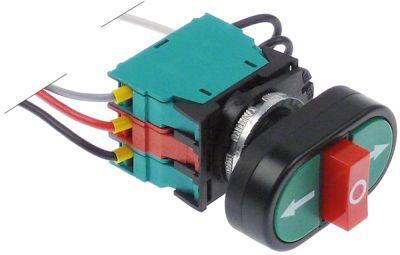 στιγμιαίος διακόπτης start διαστ. τοποθέτ. ø22mm  πράσινο/κόκκινο 1NO/1NC/1NO  400V 4A  -  -