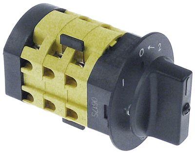 περιστροφικός διακόπτη 3 1-0-2 στιγμιαίος 690V 12A σετ επαφών 6 ø άξονα 8x7 mm Μ άξονα 18mm