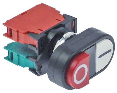 στιγμιαίος διακόπτης start ø22mm  λευκό/κόκκινο 1NO/1NC  250V 4A I O  σύνδεσμος βίδα
