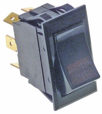 διακόπτης διαστ. τοποθέτ.  - ορθογώνιο κόκκινο 2NO/ενδεικτική λυχνία 250V 10A  -  -