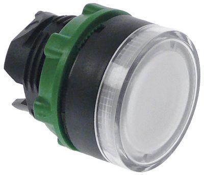 κουμπί πίεσης διαστ. τοποθέτ. ø22mm  φωτιζόμενο λευκό