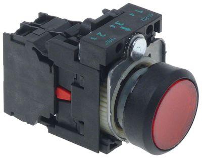 στιγμιαίος διακόπτης start διαστ. τοποθέτ. ø22mm  1NC  πλήρες κόκκινο