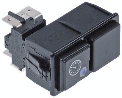 συνδυασμένοι διακόπτες διαστ. τοποθέτ. τετράγωνο μαύρο 2CO  250V 16A  -  - ρολόι