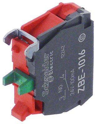 μπλοκ διακόπτη SCHNEIDER ELECTRIC  ZBE-1016 1NO  μέγ. 24V 0,1A κόκκινο