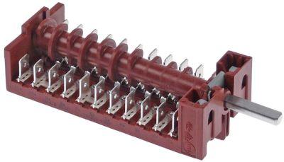 διακόπτης λειτουργίας 4 θέσεις λειτουργίας 11NO  ακολουθία 0-1-2-3  16A ø άξονα 6x4,6 mm