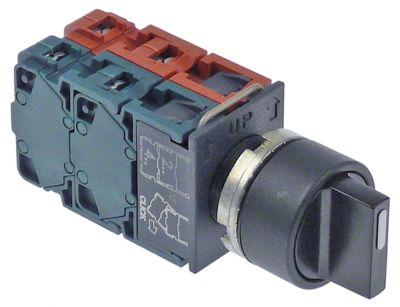 περιστροφικός επιλογέας διαστ. τοποθέτ. ø22mm  2NO/2NC  ακολουθία 0-1-2  μαύρο