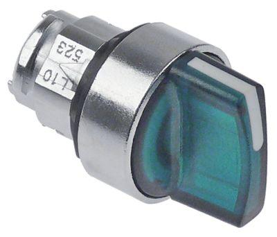 περιστροφικός επιλογέας διαστ. τοποθέτ. ø22mm  πράσινο ακολουθία 0-1 με μανδάλωση φωτιζόμενο