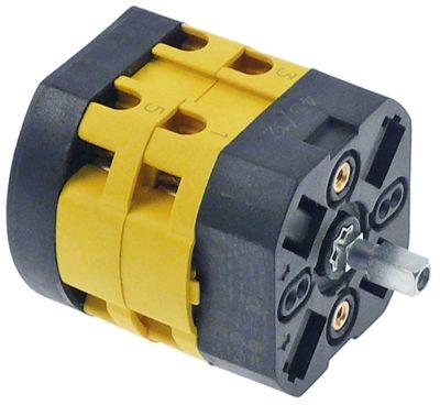 περιστροφικός διακόπτη 3 0-1-2  690V 20A σετ επαφών 3 ø άξονα 5x5 mm Μ άξονα 15mm