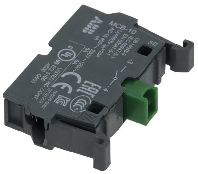 μπλοκ διακόπτη ABB  MCB-10  1NO  μέγ. 400V 8A μαύρο/πράσινο