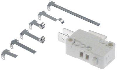 μικροδιακόπτης με έμβολο με σετ μοχλού 250V 16A 1CO  σύνδεσμος αρσενικό εξάρτημα 6,3mm Μ  -mm