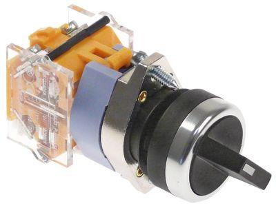 διακόπτης διαστ. τοποθέτ. ø22mm  1NO/1NC  660V μέγ. 16(4) A θέσ. λειτ. 0-1 με μανδάλωση  - μαύρο