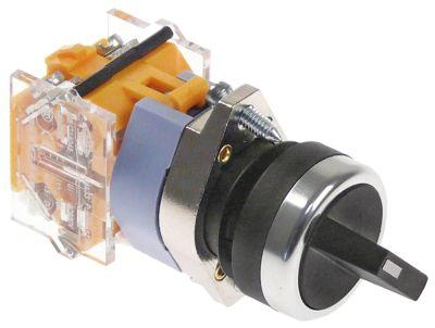 διακόπτης διαστ. τοποθέτ. ø22mm  1NO/1NC  660V μέγ. 16(4) A θέσ. λειτ. 0-1 στιγμιαίος  - μαύρο  -