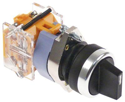 διακόπτης διαστ. τοποθέτ. ø22mm  2NO  660V μέγ. 16(4) A θέσ. λειτ. 1-0-2 με μανδάλωση  -