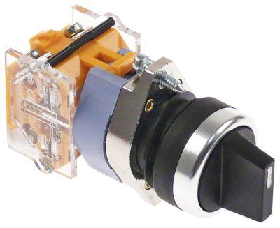 διακόπτης διαστ. τοποθέτ. ø22mm  2NO  660V μέγ. 16(4) A θέσ. λειτ. 1-0-2 στιγμιαίος  - μαύρο