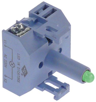 ενδεικτικό στοιχείο 24VAC/DC  πράσινο LED  σύνδεσμος βίδα 24V τάση AC/DC