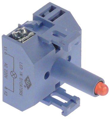 ενδεικτικό στοιχείο 230VAC  κόκκινο LED  σύνδεσμος βίδα 230V τάση AC