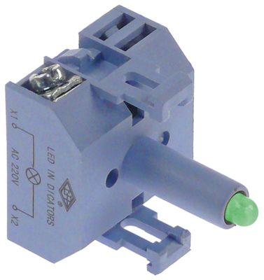 ενδεικτικό στοιχείο 230VAC  πράσινο LED  σύνδεσμος βίδα 230V τάση AC