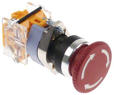 διακόπτης έκτακτης ανάγκης διαστ. τοποθέτ. ø22mm  1NC  660V μέγ. 16(4) A θέσ. λειτ. 0-1 με μανδάλωση