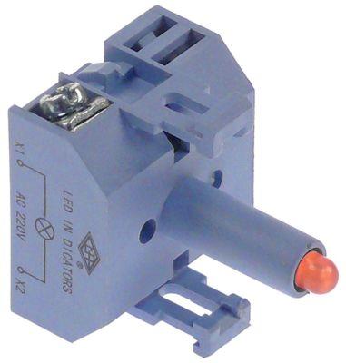 ενδεικτικό στοιχείο 24VAC/DC  κόκκινο LED  σύνδεσμος βίδα 24V τάση AC/DC
