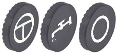 κάτω βάση μη αυτόματο/νερό/εκτός λειτουργίας ματ φινίρισμα πλαστικό 3 ελάσματα κουμπιού