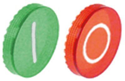 κάτω βάση εντός-εκτός λειτουργίας πράσινο/κόκκινο πλαστικό 2 ελάσματα κουμπιού