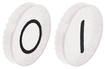 κάτω βάση εντός-εκτός λειτουργίας λευκό/λευκό πλαστικό 2 ελάσματα κουμπιού