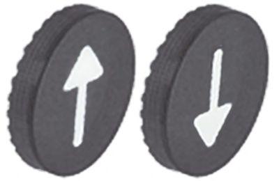 κάτω βάση βέλος πάνω/κάτω ματ φινίρισμα πλαστικό 2 ελάσματα κουμπιού