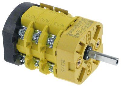 περιστροφικός διακόπτη 2 0-1  690V 20A σετ επαφών 6 ø άξονα 6x4,6 mm Μ άξονα 24mm