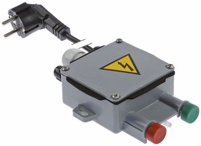 πληκτροδιακόπτης πράσινο/κόκκινο 230V σύνδεσμος καλώδιο 1800mm
