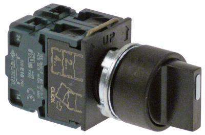 περιστροφικός επιλογέας διαστ. τοποθέτ. ø22mm  2NO  πλήρες ακολουθία 0-1-2
