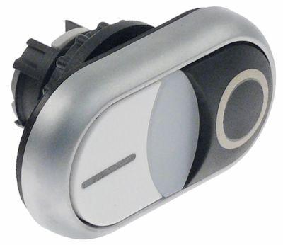 κουμπί πίεσης ø22mm  μαύρο/λευκό 0-1  σύνδεσμος προστασία IP66  εξωτερικό μέγεθος 30x55 mm