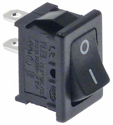 πληκτροδιακόπτης διαστ. τοποθέτ. ορθογώνιο μαύρο 1NO  250V 10A  -  - I O