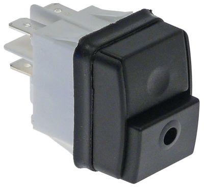 πληκτροδιακόπτης διαστ. τοποθέτ. 30x22mm με μηχανική ασφάλιση ορθογώνιο μαύρο 2NO  250V 16A