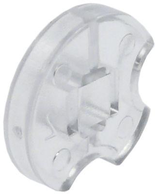 κουμπί για πλακέτα οθόνης ενδείξεων διαφανές κατάλληλο για MKN  ΕΞ. ø 16mm H 4,8mm