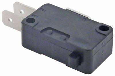 μικροδιακόπτης με έμβολο λειτουργία με πείρο 250V 16A 1CO  σύνδεσμος αρσενικό εξάρτημα 6,3mm Μ 28mm