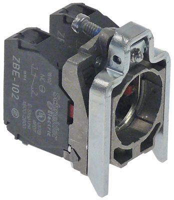 μπλοκ διακόπτη SCHNEIDER ELECTRIC  ZB4-BZ104 2NC   - με βάση μετρήσεις στερέωσης ø22 mm