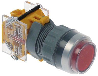 στιγμιαίος διακόπτης start διαστ. τοποθέτ. ø22mm  1NC  660V μέγ. 10A θέσ. λειτ. 0-1 με μανδάλωση  -