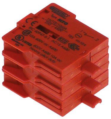 μπλοκ διακόπτη κόκκινο 3NC  σύνδεσμος βιδωτή σύνδεση 250V 16A
