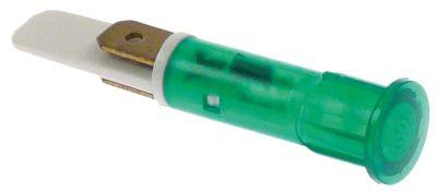 ενδεικτική λυχνία πράσινο 230V σύνδεσμος αρσενικό εξάρτημα 6,3mm ø 10mm