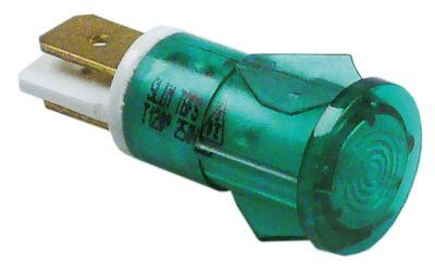 ενδεικτική λυχνία πράσινο 230V σύνδεσμος αρσενικό εξάρτημα 6,3mm