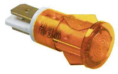ενδεικτική λυχνία κίτρινο 230V σύνδεσμος αρσενικό εξάρτημα 6,3mm ø 12mm