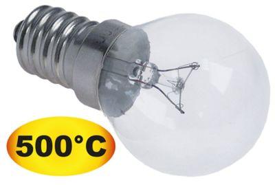 λάμπα πυρακτώσεως Μέγ. Θ 500°C υποδοχή E14  25W 240V ø 45mm Μ 75mm Μ φακού 48mm